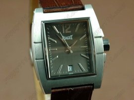 ピアジェPiaget Upstream SS Case Gray Dial Brown Strap Swiss Eta 2824自動巻き