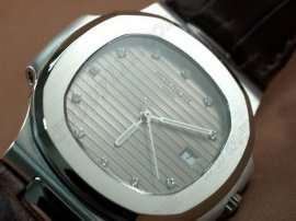 パテックフィリップPatek Philippe Nautilis Jumbo SS/LE Grey Diamonds自動巻き