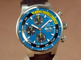 IWC 2008 Cousteau Divers Chrono SS Blue A-7750自動巻き